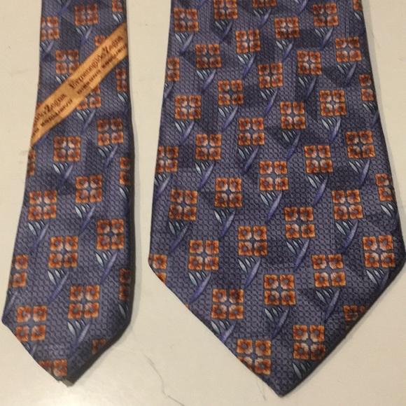 d0b479c9 Ermenegildo Zegna silk abstract floral men's tie NWT